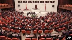 ترک پارلیمان کے اجلاس کا ایک منظر۔