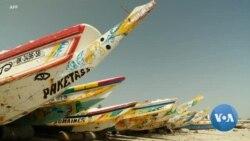 Les bateaux de pêche aux couleurs vives du Sénégal rapportent les meilleures prises