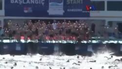 Samsung Kıtalararası Yüzme Yarışı Yapıldı