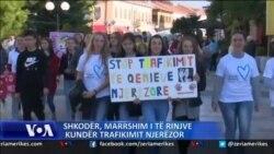 Shkodër, marshim i të rinjve kundër trafikimit