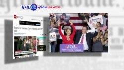 VOA60 Elections - CNN: Ted Cruz has named former Republican rival Carly Fiorina as his VP nominee