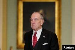 Senator Charles Grassley (R-Iowa) arrives on Capitol Hill in Washington, Jan. 16, 2020.