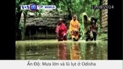 Mưa lớn và lũ lụt ở Ấn Độ, 46 người thiệt mạng (VOA60)