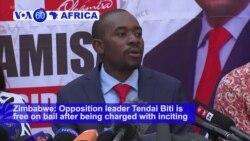VOA60 Africa - Zimbabwe: Opposition leader Tendai Biti is free on bail