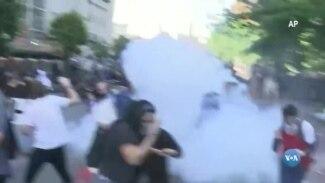 Polícia dispersa manifestantes junto à Casa Branca