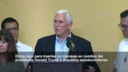 """Pence: """"Estaremos con ustedes hasta que la democracia sea restaurada en Venezuela"""""""
