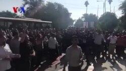 تجمع اعتراضی کارگران کارخانه «گروه ملی فولاد اهواز» مقابل دادگستری خوزستان