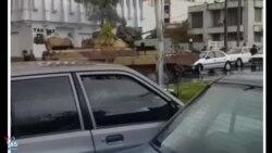 چند ساعت بعد از سیل مرگبار در دروازه قرآن؛ حضور تانک در وسط شهر شیراز