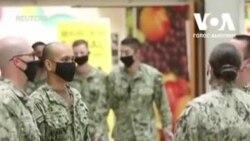 Як на базі ВМС США у Перські затоці дотримуються заходів стримування поширення коронавірусу? Відео