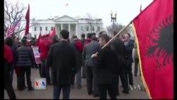 Protesta per te drejtat e shqiptareve ne Mal te Zi