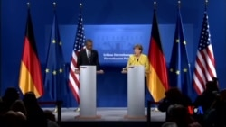 2016-04-24 美國之音視頻新聞: 奧巴馬總統與默克爾總理商討經濟反恐