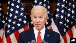 Le candidat démocrate à la présidentielle, l'ancien vice-président Joe Biden s'exprime à Philadelphie, le 2 juin 2020. (Photo AP / Matt Rourke)