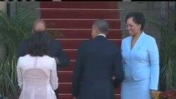 奥巴马抵南非访问 曼德拉情况好转
