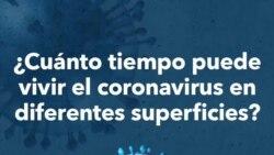 ¿Cuánto tiempo dura el coronavirus en distintas superficies?