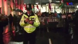Londra'da Afrin Protestosu