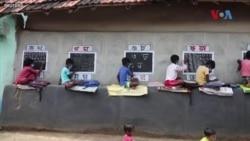بھارت کے گاؤں میں انوکھا کلاس روم
