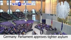VOA60 World - Germany: Parliament approves tighter asylum rules