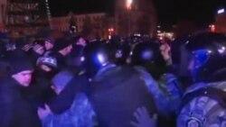 烏克蘭警方在首都基輔跟抗議者衝突