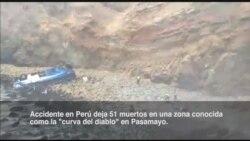 Sube cifra de muertos en trágico accidente en Perú