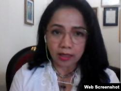 Representative of AKUR Sunda Wiwitan, Juwita Djatikusumah Putri. (Photo: screenshot)
