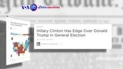Manchetes Americanas 10 Maio: Trump e Hillary quase empatados em 3 Estados