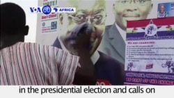 VOA60 Africa - Ghana: Main opposition party says it is leading in the presidential election