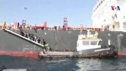 La marine italienne diffuse les images du chavirement d'un bateau de migrants
