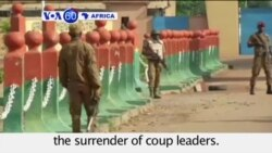 VOA60 Africa - Burkina Coup Leader in Talks With Army - September 22, 2015