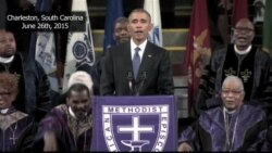Obama Sings, Honors Charleston Victims