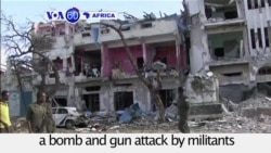 VOA60 Africa - Death Toll Rises to 24 in Mogadishu Hotel Attack