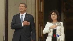 卡特與稻田朋美舉行會晤