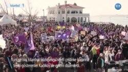 İstanbul Sözleşmesi Kararı Kadıköy'de Protesto Edildi