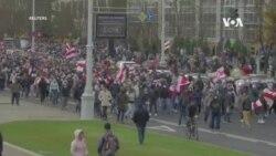 白俄羅斯安全部隊在明斯克發射催淚瓦斯,毆打示威者