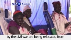 VOA60 Africa - S. Sudan: About 1,000 people displaced by the civil war are being relocated from Tomping to the UN House