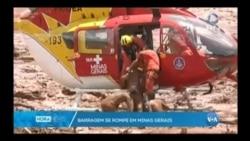 Brasil, barragem rebenta em Minas Gerais
