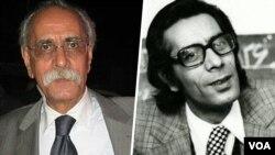 نوذر آزادی در کاراکتر «جعفر قاطبه» (راست) و عکسی از او در سالهای اخیر