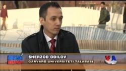 Garvard universitetida bilim olayotgan o'zbekistonlik - Uzbek student at Harvard University