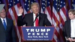 Donald Trump élu 45e président des Etats-Unis d'Amérique (vidéo)