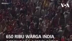 650 Ribu Warga India Berendam, Meski Catat Rekor Kasus Harian COVID