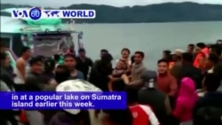 VOA60 World - Indonesia: More than 190 people are missing after a ferry sank earlier this week