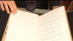 2012-06-13 美國之音視頻新聞: 喬治華盛頓擁有的憲法原稿將被拍賣