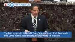 VOA60 America- Closing arguments made in Trump impeachment trial