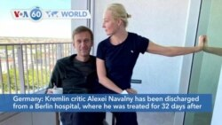 VOA60 Addunyaa - Kremlin critic Alexei Navalny was discharged from a Berlin hospital after being poisoned