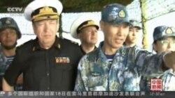 中俄海军进行夺取岛屿的演习