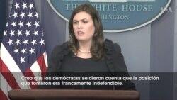 """Casa Blanca: Demócratas se dieron cuenta que actitud era """"indefendible"""""""