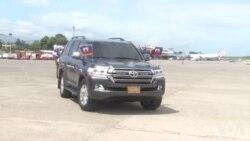 Ayiti: Kòtèj Prezidan Jovenel Moise la Fè Fas ak yon Gwoup Manifestan Opozan sou Wout li nan Pòtoprens