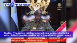 VOA60 Africa - Sudanese Military Suspends Talks with Civilian Protest Leaders