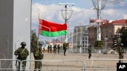 ARHIVA - Ministarstvo unutrašnjih poslova Belorusije u Minsku, 13. septembra 2020.