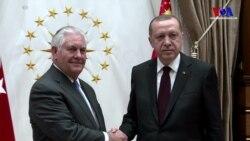 Erdoğan-Tillerson görüşmesi sona erdi