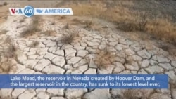 VOA60 America - Lake Mead, the largest water reservoir in the country, has sunk to its lowest level ever